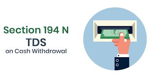 TAX DEDUCTION AT SOURCE ( TDS )  ON CASH Withdrawals (Sec. 194N )