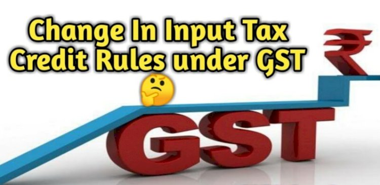 IMPACT ON ITC NOT ELIGIBLE IN GST