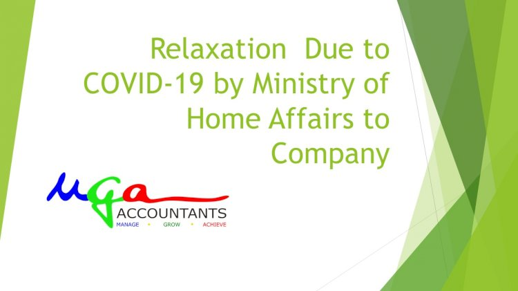 MCA Forms due dates delay due to Covid -19