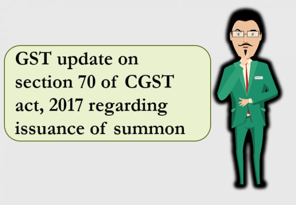 SUMMONS IN GST